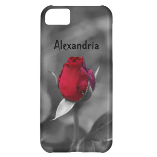 Red Rosebud Cover For iPhone 5C