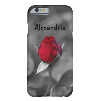 Red Rosebud Barely There iPhone 6 Case