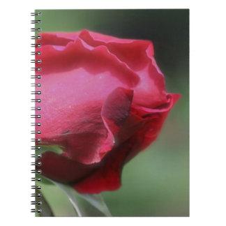 Red Rosebud Flower Nature Notebook