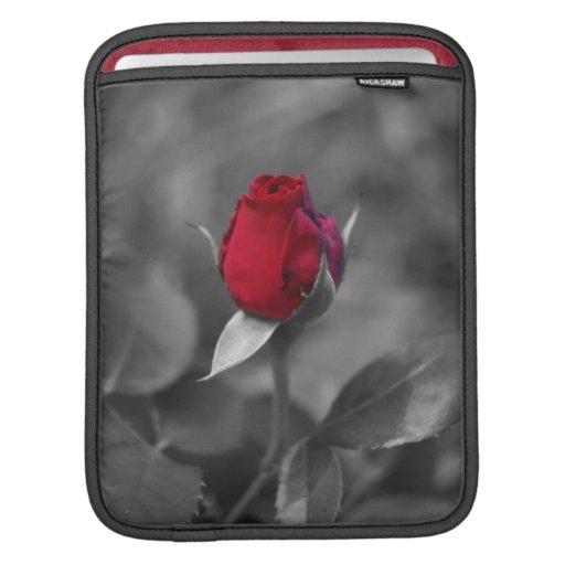 Red Rosebud Sleeves For iPads