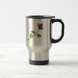 Red Rosebud Travel Mug