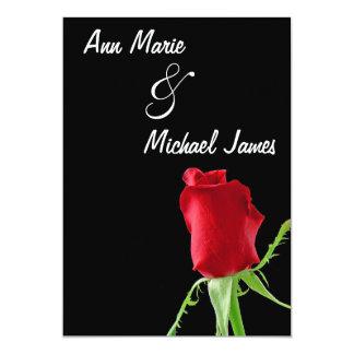 Red Rosebud Wedding Shower Invitation