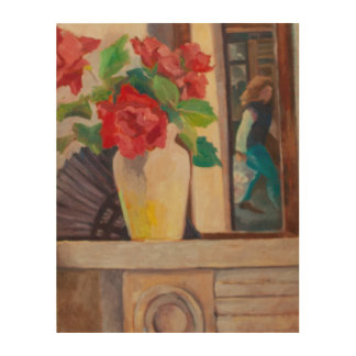 Red Roses 1986 Wood Wall Decor