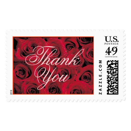 Red Roses (1), Thank You Postage Stamp