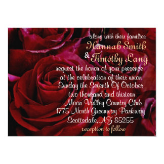 red roses all around wedding invatation 5.5x7.5 paper invitation card