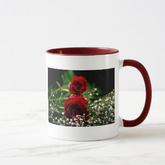 Red Roses and Baby's Breath Mug