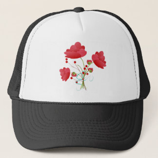 Red Roses and Berries Trucker Hat