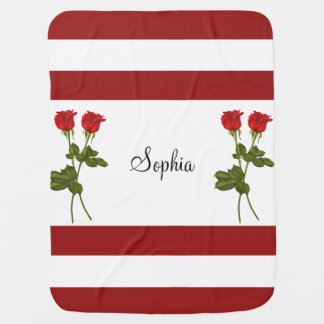 Red Roses Baby Blanket