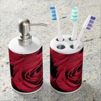 Red Roses Bathroom Set
