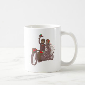 Red Roses Biker Wedding Cards and Products Coffee Mug