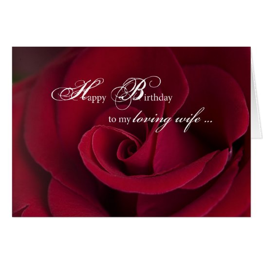 Red Roses Birthday Card For Loving Wife