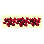 Red Roses Bookmark Double-Sided Mini Business Cards (Pack Of 20)