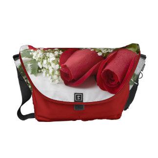Red Roses Bouquet Messenger Bag