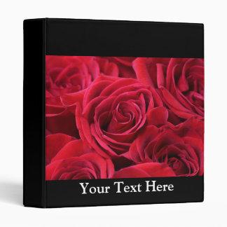 Red Roses Bouquet Vinyl Binder