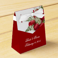 Red Roses Bouquet Wedding Favor Box