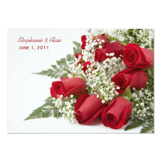 Red Roses Bouquet Wedding Invitation