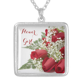 Red Roses Bouquet Wedding Party Necklace