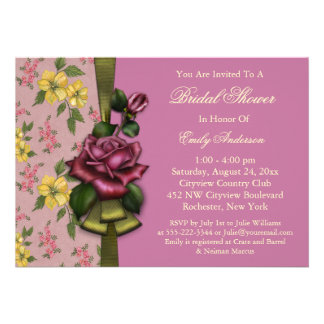 Red Roses Bridal Shower Invitations