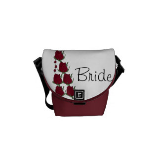 Red Roses Bride Gift Wedding Bag