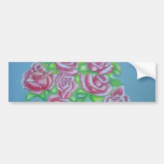 red roses bumper sticker