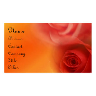 Red Roses Business Cards