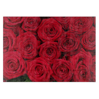 Red roses by Therosegarden Cutting Boards