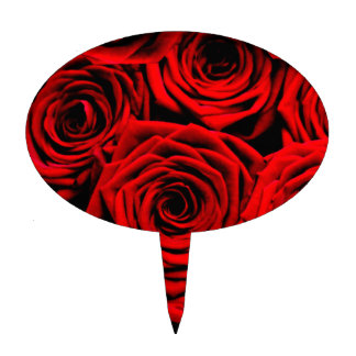 Red Roses Cake Toppers