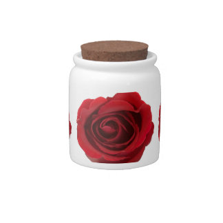 Red roses candy jar Romantic home decor