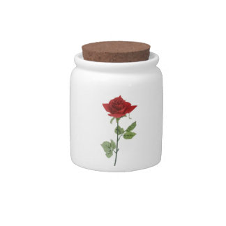 Red Roses Candy Jars