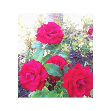 merydesigns Red roses canvas print