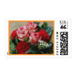 Red Roses & Carnation Postage