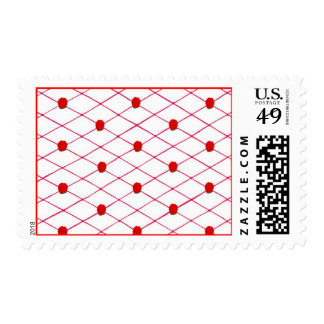 Red Roses Criss Cross Quilt Pattern Stamps
