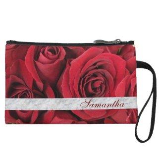 Red Roses Custom Clutch