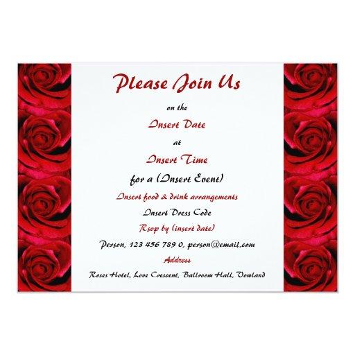 Red Roses - Customizable Template Custom Invitation