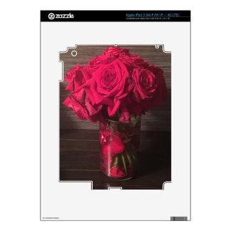 Red Roses Decal For iPad 3