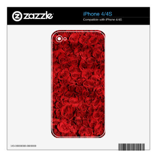 Red roses decal for iPhone 4