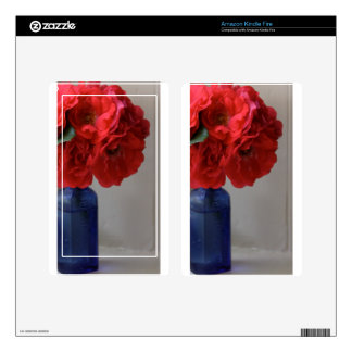 red roses decal for kindle fire