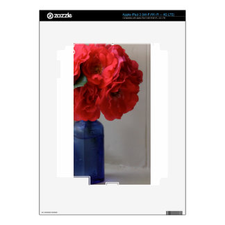 red roses decals for iPad 3
