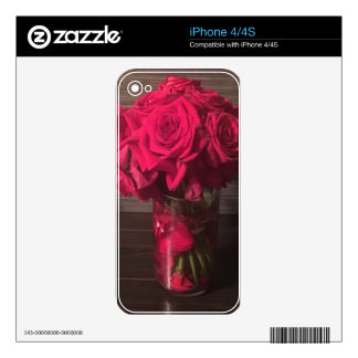 Red Roses Decals For The iPhone 4