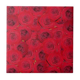 Red roses design ceramic tile