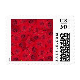 Red roses design postage
