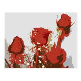 Red Roses Digital Art Postcard