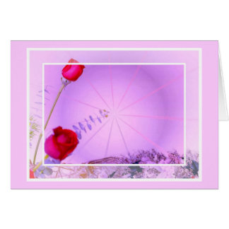 Red roses Easter Card