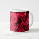 Red roses extra large mug
