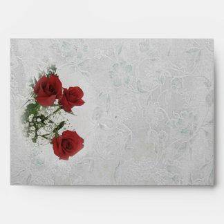 Red Roses Fine Wedding Envelope