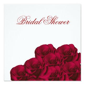 Red Roses Floral Bridal Shower Invitation