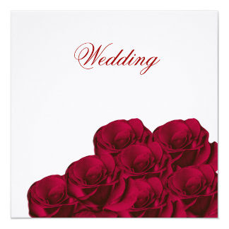 Red Roses Floral Wedding Invitation