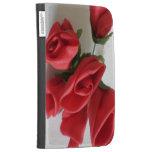 Red Roses Flower Design Kindle Case