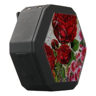 Red Roses Flower Garden Black Bluetooth Speaker