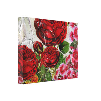 Red Roses Flower Garden Canvas Print